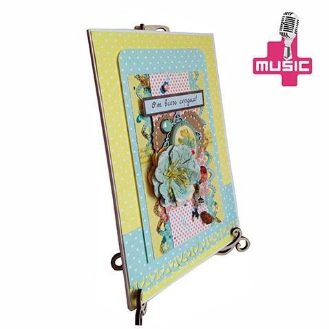 Эксклюзивная музыкальная открытка на заказ